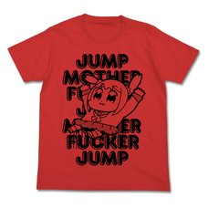 Pop Team Epic Jump French Red T-Shirt