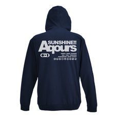 Love Live! Sunshine!! Aqours Navy Light Zip Hoodie