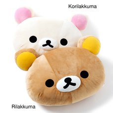 Rilakkuma Face Die-Cut Cushion