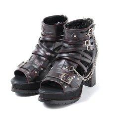 YOSUKE 2015SS Chain Bootie Sandals