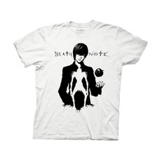 Death Note Light with Ryuk in Silhouette Adult T-Shirt