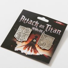 Attack on Titan Stationary Guard & Military Police Emblem Pins