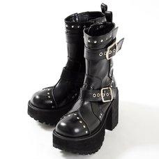 YOSUKE USA Mid-Calf Chunky Boots