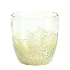 Silver Foil Rocks Glass