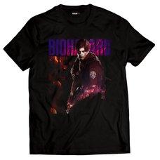 Resident Evil 2 Leon S. Kennedy Black T-Shirt