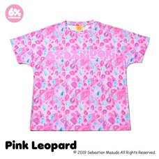 6%DOKIDOKI Colorful Rebellion Animal Pink Leopard T-Shirt