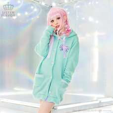 LISTEN FLAVOR Angel Heart Long Knit Hoodie