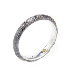 Evangelion Silver Black Moon Ring