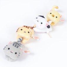 Tobitsuku Nyanko Puchi Character Clothespins