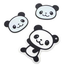 Merry Panda Silicone Coasters