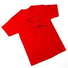 Inuyasha Leaping Outline T-Shirt