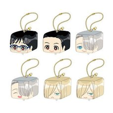 Yuri!!! on Ice Face Plushie Keychain Box Set