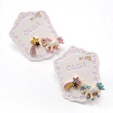 Osewaya Unicorn & Star Earrings