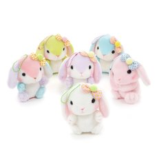 Pote Usa Loppy Colorful Rabbit Plush Collection (Ball Chain)