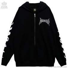 LISTEN FLAVOR Haunted Castle Zip-Up Hoodie