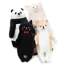 Animal Lesson Mocchiri Medium Hug Pillow Collection
