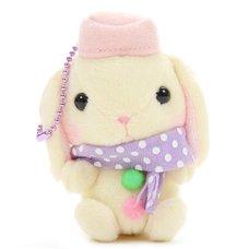 Pote Usa Loppy Snowman Rabbit Plush Collection (Mini Strap)