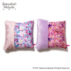 6%DOKIDOKI Fur x Colorful Rebellion Cushion Cover