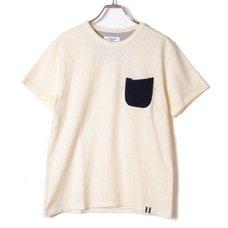 Loopwheel Eva Pocket T-Shirt (Navy x Gray)