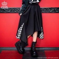 LISTEN FLAVOR Zip Detail Hemline Skirt