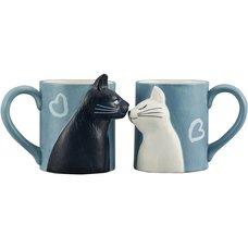 Kissing Cats Mug Set