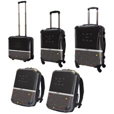 Tetris Art Suitcase & Rucksack Collection: Two-Tone (Black)