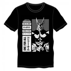 My Hero Academia All Might Men's Black T-Shirt