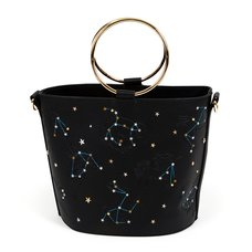 FLAPPER Animal Constellation Black Bucket Bag