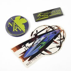 EVA STORE Tokyo-01 Original 500 Type Eva Diecut Sticker & Tin Badge Set