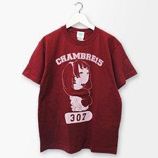 PARK Mari Shirako Character College Print T-Shirt