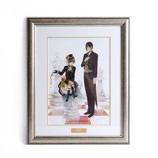 Ciel & Sebastian Framed Chara Fine Graph | Black Butler: Book of Circus