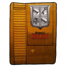 Legend of Zelda Gold Cartridge Throw Blanket
