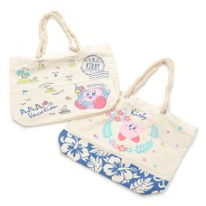 Kirby PuPuPu Vacation Rope Handle Tote Bag