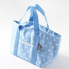 Blue Polka Dot Insulated Lunch Bag