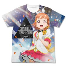 Love Live! Sunshine!! Chika Takami Mirai Ticket Ver. White Graphic T-Shirt