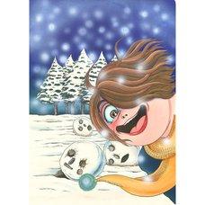 Kanako Inuki Fushigi no Tatari-chan Snowman Reproduction Art Print