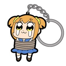 Pop Team Epic Punish Popuko Tsumamare Keychain