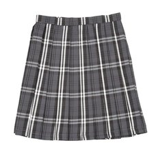 Teens Ever Gray x White High School Uniform Skirt