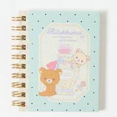 Rilakkuma Spiral-Bound Notebook (Blue)