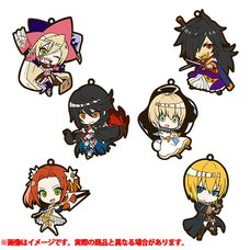 Tales of Berseria Petit Chara Trading Rubber Strap Set