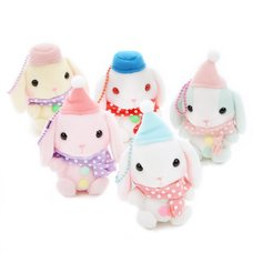 Pote Usa Loppy Snowman Rabbit Plush Collection (Mini Strap)