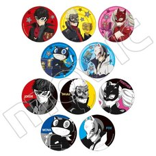 Persona 5 the Animation Treasure Character Pin Badge Collection Box Set