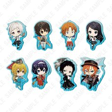 Bungo Stray Dogs Natsu no Tori Clear Clip Badge Collection Box Set