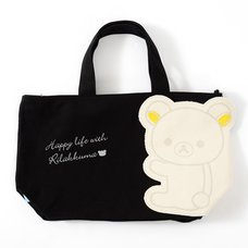 Rilakkuma Die-Cut Pocket Canvas Mini Tote Bag