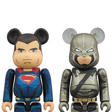 BE@RBRICK Superman & Armored Batman Set