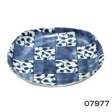 Checkerboard Mino Ware Dish