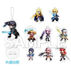 Sword Art Online Game Dot Trading Acrylic Keychain Collection A Complete Box Set
