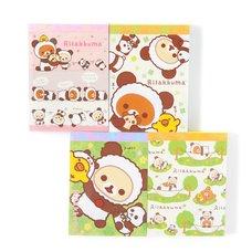 Rilakkuma Panda de Goron Clothbound Memo Pad