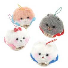 Fuwa-mofu Pometan Trip in a Bag Dog Plush Collection (Mini Strap)