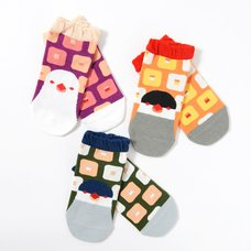 KOTORITACHI Java Sparrow Printed Socks (Square Pattern)